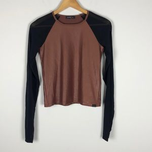 Koral Two Tone Long Sleeve Top
